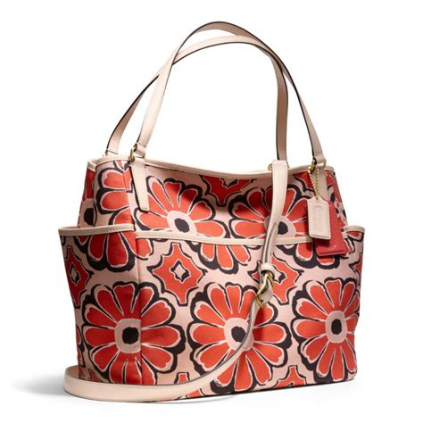 Coach Flowery coach baby bag tote in floral scarf print in lyst