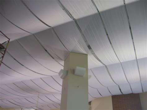 How To Put Fabric On Ceiling by Fabric Ceiling Panels Home Ideas