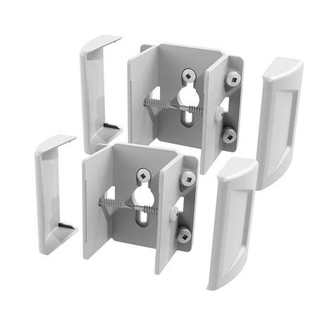 shop freedom set secure 2 pack white vinyl fence brackets
