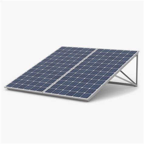 Panel Solar Cell 3d Model Solar Panels