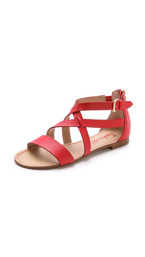 Flat Shoes Merah 3 lyst splendid cantina flat sandals in