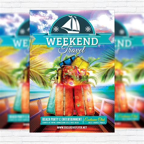 Travel Weekend Premium Flyer Template Facebook Cover Exclsiveflyer Free And Premium Psd Travel Flyer Template Free