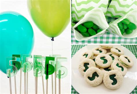 party themes green green themed boys birthday party perfect st patricks day