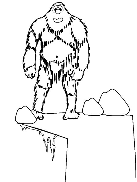 coloring pages abominable snowman printable abominablesnowman winter coloring pages