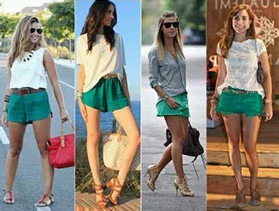 imagenes de shorts verdes looks com shorts fotos dicas moda combina 231 245 es