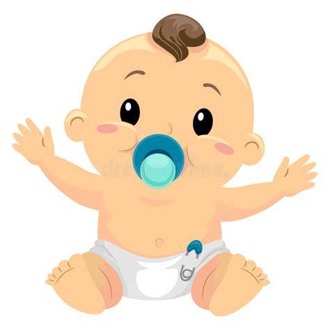 clipart neonato illustrazione di piccolo neonato succhia una