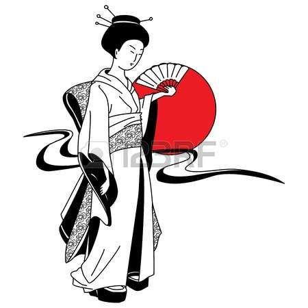 geisha clipart geisha clipart japanese pencil and in color geisha