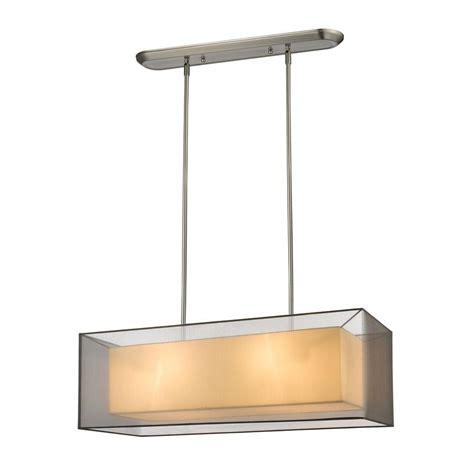 Nickel Island Light Filament Design 4 Light Brushed Nickel Island Light Cli Jb046335 The Home Depot