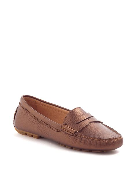 ralph womens loafers by ralph camila leather loafers in brown