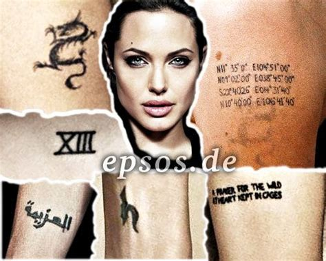 angelina jolie tattoo type los megan tatuajes de celebrities megan hoogland angelina