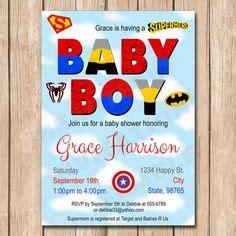 Superhero Baby Shower Invitation Super Hero By Kidzparty On Mustache Baby Shower Invitations Superman Baby Shower Invitation Template