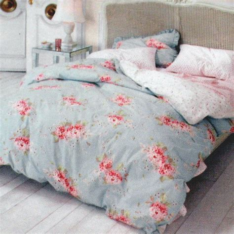 white shabby chic bedding simply shabby chic hydrangea rose king duvet no shams