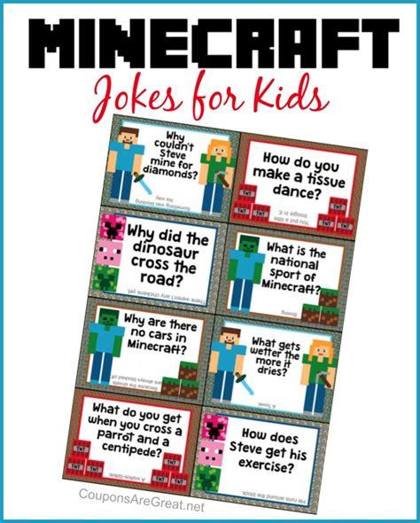 printable children s jokes printable minecraft lunchbox jokes