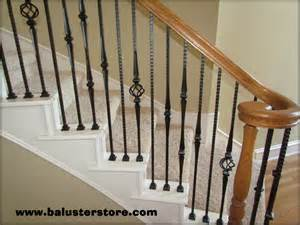 Metal Stair Banisters high quality powder coated iron stair parts ironman1821