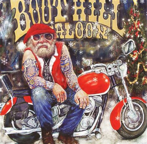boothill biker  unique christmas card  british artist steve taylor message  reads