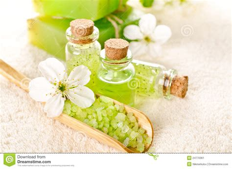 Bright Green Spa Background Stock Image Image 24770361
