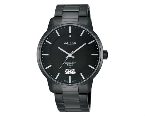 Alba As9d35x1 White Stainless Steel alba s prestige black stainless steel bracelet as9963x1