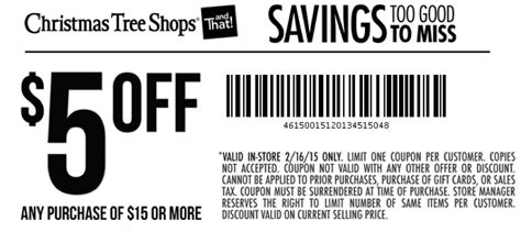 coupons for tree shop tree shops coupon 5 15 purchase today