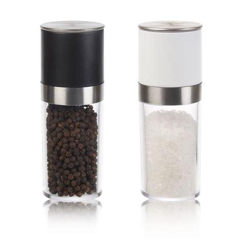 Salt Pepper Mill salt pepper mill set grinder acrylic kitchen shaker 14cm