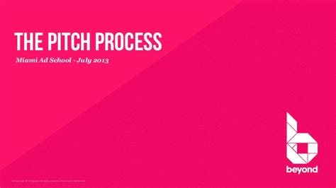 Agency Pitch Template by The Pitch Process Turning Client Briefs Into Great Ideas