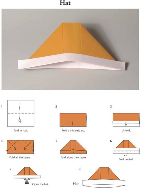 How To Make An Origami Sailor Hat - welcome to dover publications