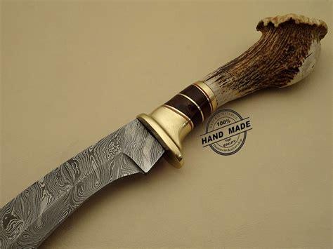 Handmade Damascus Knives - damascus kukuri knife custom handmade damascus steel