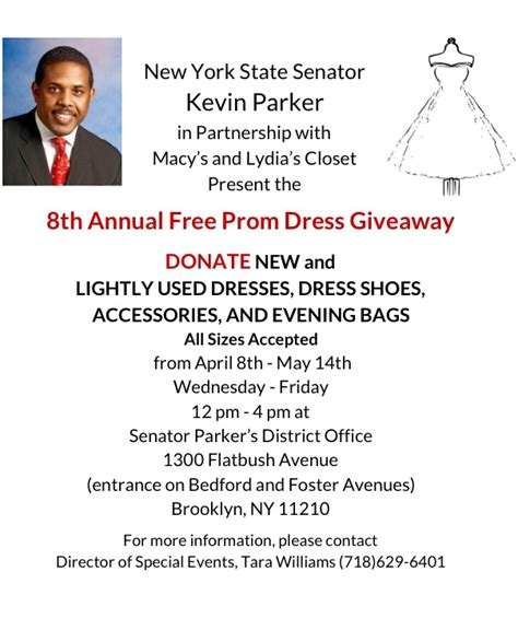 Prom Dress Giveaway 2015 - donate dresses to senator parker s 8th annual prom dress giveaway ny state senate
