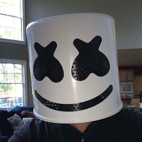 handmade marshmello helmet  upcoming halloween party