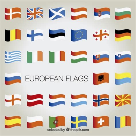 flags of the world eps free download european flags collection vector free download