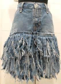 tattered denim skirt ripped denim skirt by