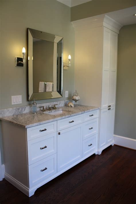 built in bathroom linen cabinets built in linen bathroom contemporary with lovely green