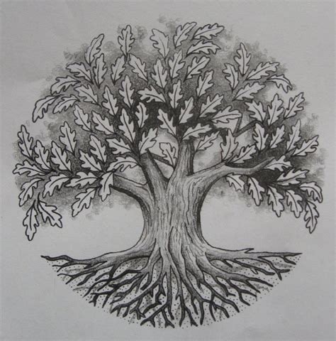 oak tree tattoo designs oak tree by design on deviantart