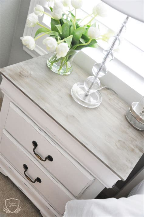 white chalk paint diy nightstand chalk paint tutorial the grace house