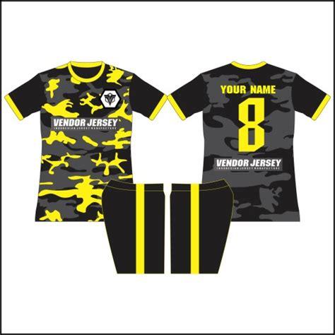 desain baju futsal keren berkerah desain baju futsal army full printing vendor jersey