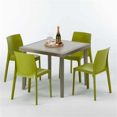 tavoli bar esterno sedie e tavoli polyrattan per bar giardino esterni