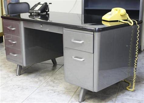 vintage steel tanker desk all steel tanker desk vintage refinished w black formica