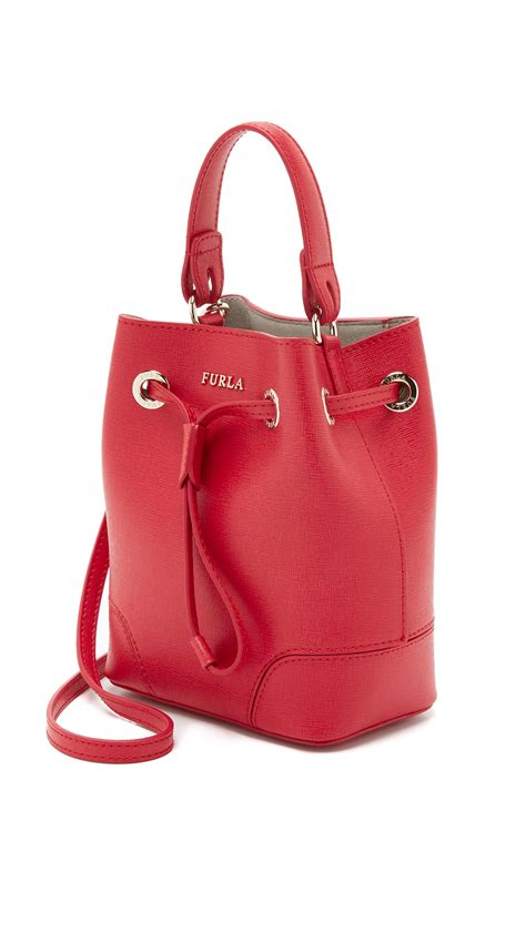 Mini Dress Furla lyst furla mini drawstring bag in