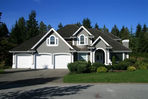 grey house colors surrey white trim garage doors and benjamin moore