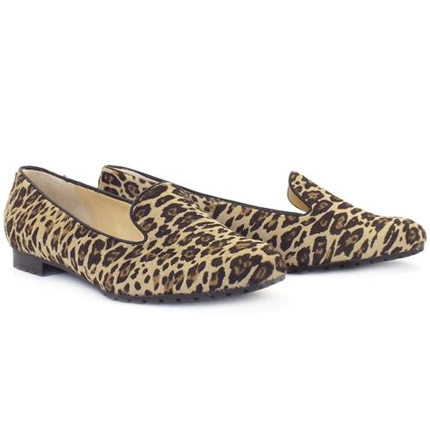 leopard skin loafers kaiser viga smart casual loafers in leopard print