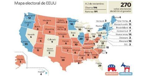 elecciones usa 2012 mapa gu 237 a para entender las elecciones de eeuu este martes se