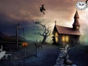 Free Halloween Screensavers   Graveyard Party   FullScreensavers.com