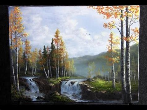 bob ross painting birch trees painting clouds and thunderheads with jerry yarnell 29