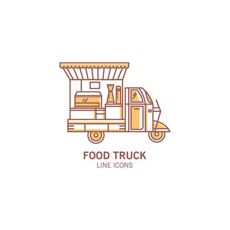 free food truck logo design food truck vector icon pack free design resources