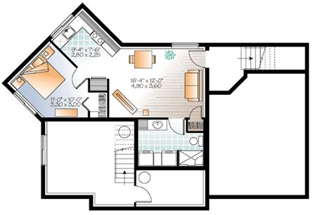 bachelor apartment floor plan house plan with bachelor apartment 22386dr architectural designs house plans