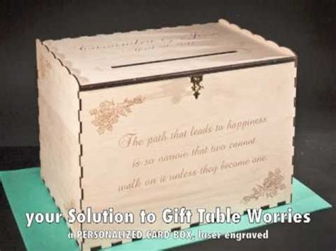 Total Wine Gift Cards - laser engraved wedding gift card box youtube