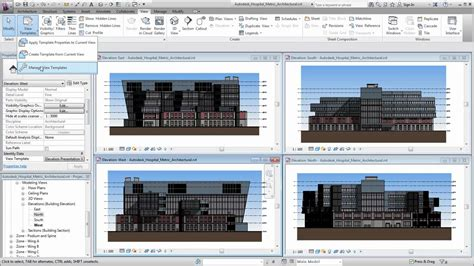 revit template autodesk revit using view templates