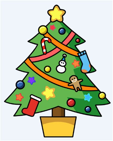 happy christmas tree clipart