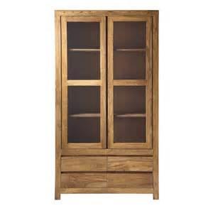 biblioth 232 que en bois de sheesham massif l 110 cm stockholm