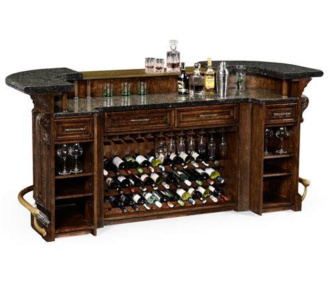 Oak Home Bar Linenfold Tudor Oak Home Bar