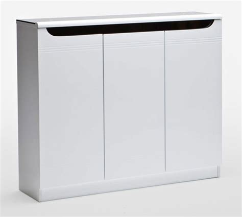 White Shoe Cabinet With Doors by Furniture Wood Shoes Cabinet With Shutter Doors And